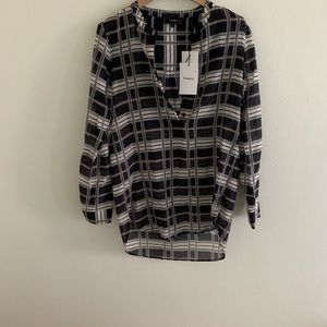 Theory cotton tunic shirt